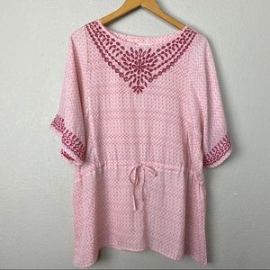 Anthropologie one September pink tunic top